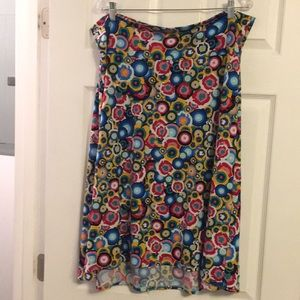 Lularoe skirt. Multi colored.